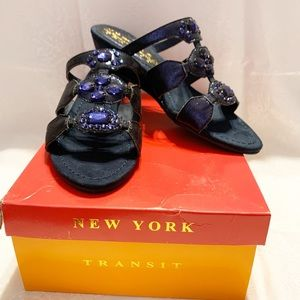 NEW YORK TRANSIT NAVY ACED THE MOMENT WEDGE SANDAL